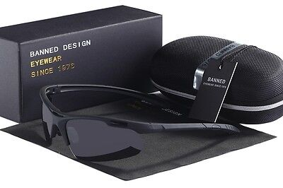 HD Polarized Sunglasses Mens Outdoor Sport Cycling Bike Wrap Around Goggles