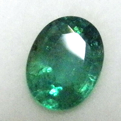 All Natural earth-mined Zambian oval shaped green emerald ..1.2 carat... No oil