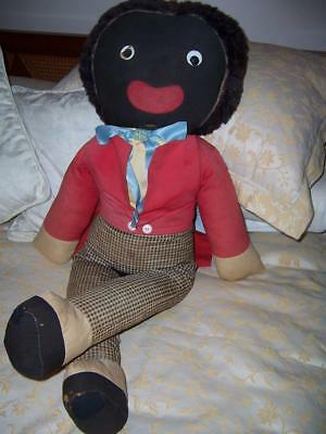 Vintage Rare Large Black Golli Joy Toy  Soft Toy 1960 Made In Australia