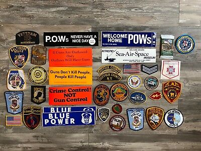 Collectors Military Police Lot Patches Bumper Stickers Lot