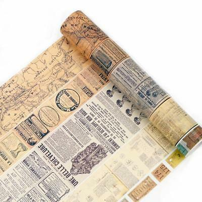 Washi Tape Vintage Retro Antique Travel Airmail Stamps Theme 6A