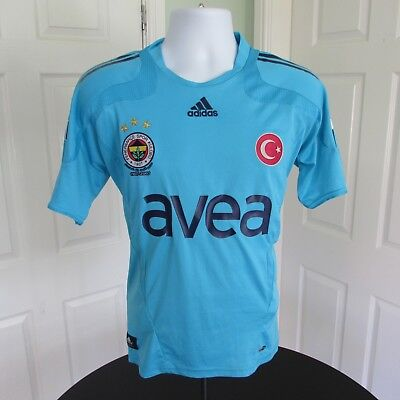 2007-2008 Fenerbahce Football Shirt, Turkey, Soccer Jersey, Adidas, Large,Trikot