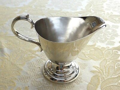 Vintage Silver Plated Gravy/sauce Boat With Tiered Base   1390821/824