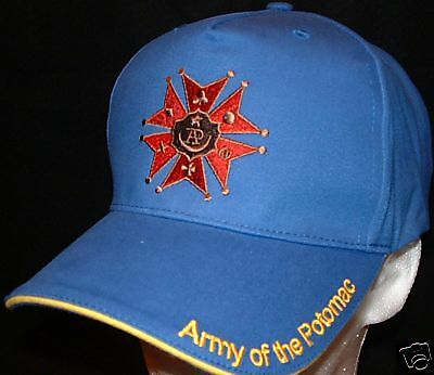 Army of the Potomac Hat  Ball Cap embroidered with Civil War Medal