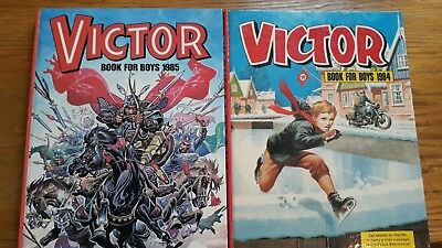 2x The Victor Book for Boys Hardback Annuals 1984, 1985
