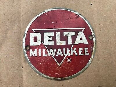 "Delta Milwaukee 3 5/16"" Round Name Tag Badge Band Saw Jointer Planer Drill Press"