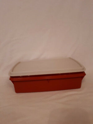 Vintage Tupperware Tuppercraft Storage Box Crafts/Sewing/Beads Stow n Go Box