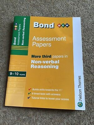 Bond Assessment Papers Non Verbal Reasoning Age 9-10