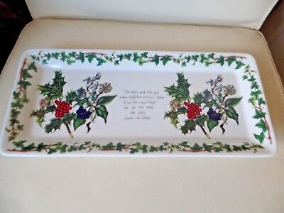 Portmeirion Holly & Ivy Holly Sandwich Tray Dish Brand New First