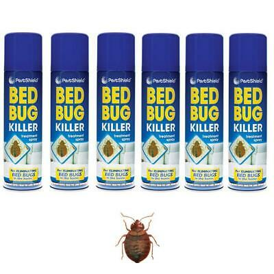 6 x Bed Bug Killer Spray Insect Carpet Mattress Treatment Eliminate Bugs 200ml