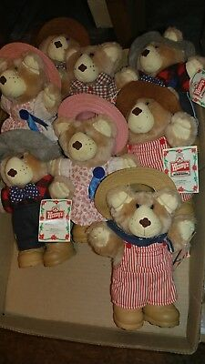 Wendy's 1986 Toy Bears (8)