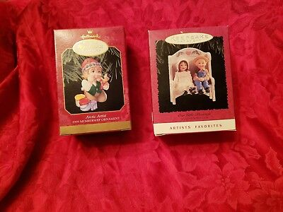 One of each Hallmark Keepsake Ornament Collectors Club And Artists Favorites