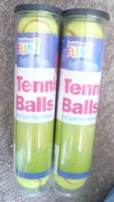 10x OUTDOOR FUN BRANDED TENNIS BALLS - NEW AND SEALED