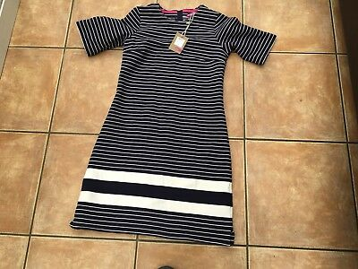 Ladies Size 8 Navy And White Joules Dress Never Worn