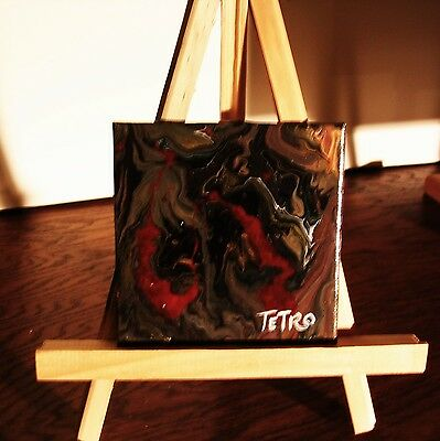 Abstract Painting by TETRO.Acrylic Liquid/Flow Paint.Au delà des Limites/Out of,