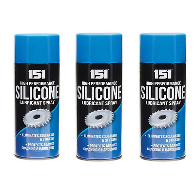 3x High Performance Silicone Lubricant Spray Eliminates Squeaking Sticking 200ml