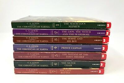 The Chronicles of Narnia books COMPLETE set 1-7 C.S. Lewis lot
