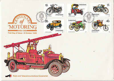 Zimbabwe - 1986 motoring centenary FDC  with extras - see description