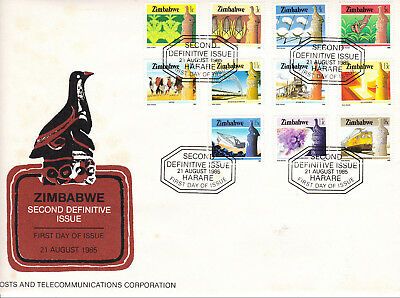 Zimbabwe - 1985, second issue definitives on 2 covers - see description