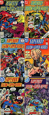 Superboy and The Legion Of Super-Heroes Bronze Age Lot - Six (6) Books!
