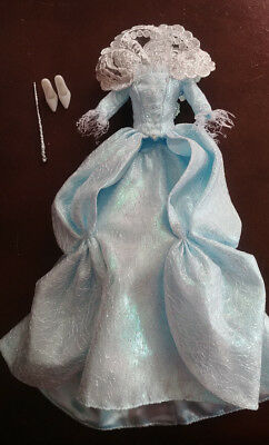 Disney Doll Pale Blue Gown - 'fairy Godmother' - From Cinderella - Amazing