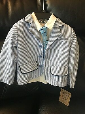 Toddler Boys Suit Coat With Shirt And Tie