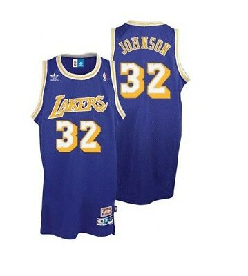 7d6659da8bc Earvin Magic Johnson #32 Los Angeles Lakers Vintage Stitched Basketball  Jersey
