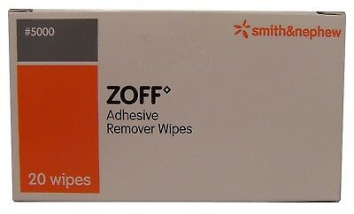 Zoff Adhesive Remover 20 Wipes
