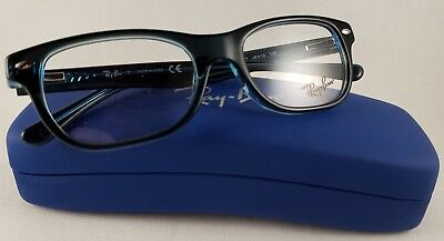 New Ray Ban Junior Optical Eyeglasses Frame RB 1530 3667 RX Blue 48-16- afcd14bc9f2c8