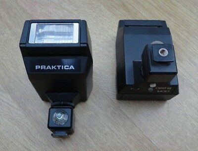 Praktica Camera flashgun DDR B220 with Wireless Slave Shoe Flash triggers x2