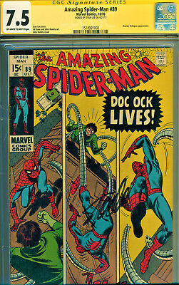 Amazing Spider-Man #89 Cgc 7.5 Ss Signed By Stan Lee! Doctor Octopus Cover/story