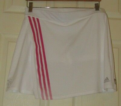 Adidas Climalite Tennis White Skort Size 14 New With tags.