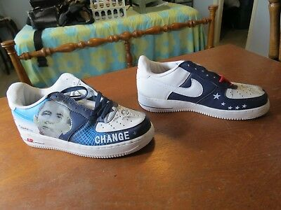 Nike Air Force 1-2008 Obama-Change-Yes We Can-Size 9 - New(No Orig. Box) Rare!