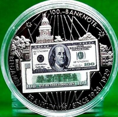 $100 Benjamin Franklin Banknote Commemorative Coin
