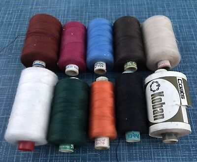 Job Lot 10 Reels Of Sewing Threads Some Used
