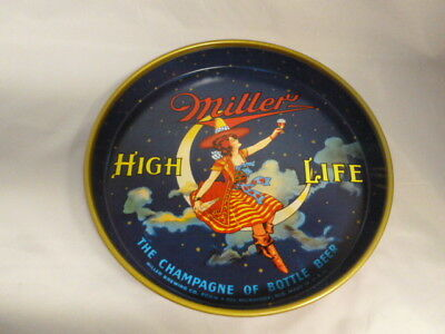 Vintage Miller High Life Girl On The Moon Beer Tray #303