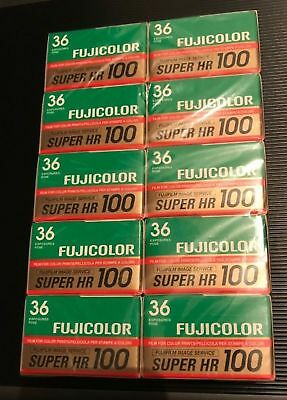 10 x Fujifilm Super HR 100 expired film job lot loom kodak pert agfa 35mm analog
