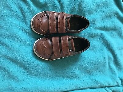 Baby Boys Next Brown Leather Shoes Size 5