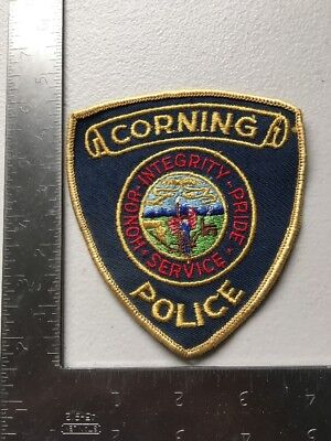Corning Iowa Police Department Patch Ia Cheesecloth Reverse Old