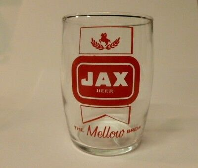 Vintage Jax Beer Barrel Glass THE MELLOW BREW