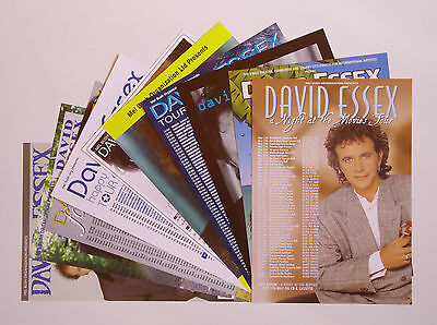 David Essex - set of 10 different A5 tour flyers (1996-2008) Ideal for framing!