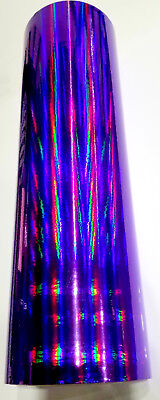 "Royal Purple Rainbow Oil Slick Vinyl 24"" x 30 ft"