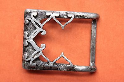 Beautiful Vintage Pewter Artist Hand Made Belt Buckle