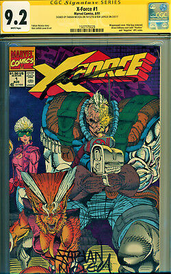 X-Force #1 Cgc 9.2 2X Signed By Rob Liefeld, Fabian Nicieza! Movie Coming Fast!
