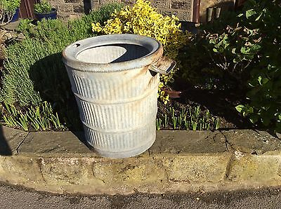 Original Vintage Galvanised Dolly / Peggy Wash  Tub The Anti Splash 1934 Planter