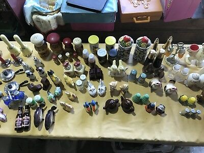 HUGE LOT of 60 SIXTY vintage salt and pepper sets Shawnee Chickens 50-60's Era