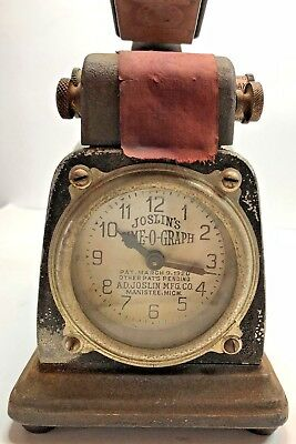 Joslin's Time-O-Graph Clock Time Date Year Symbol Rubber Stamp Stamping Machine