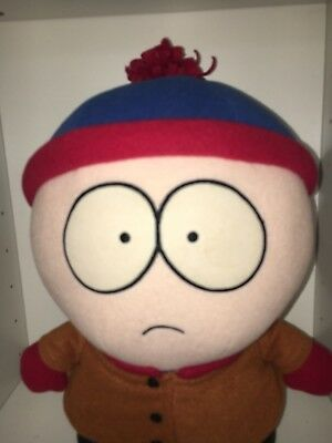 """Vintage 1998 """"STAN"""" Comedy Central South Park Large Plush Doll Toy 8"""""""
