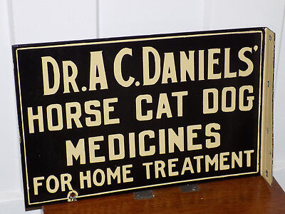 Horse Cat Dog Medicines For Home Treatment Double Sided Porcelain Flange Sign