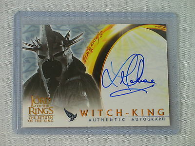 Topps Lotr Rotk Lawrence Makoare As Witch-King Autograph Card Return Of The King